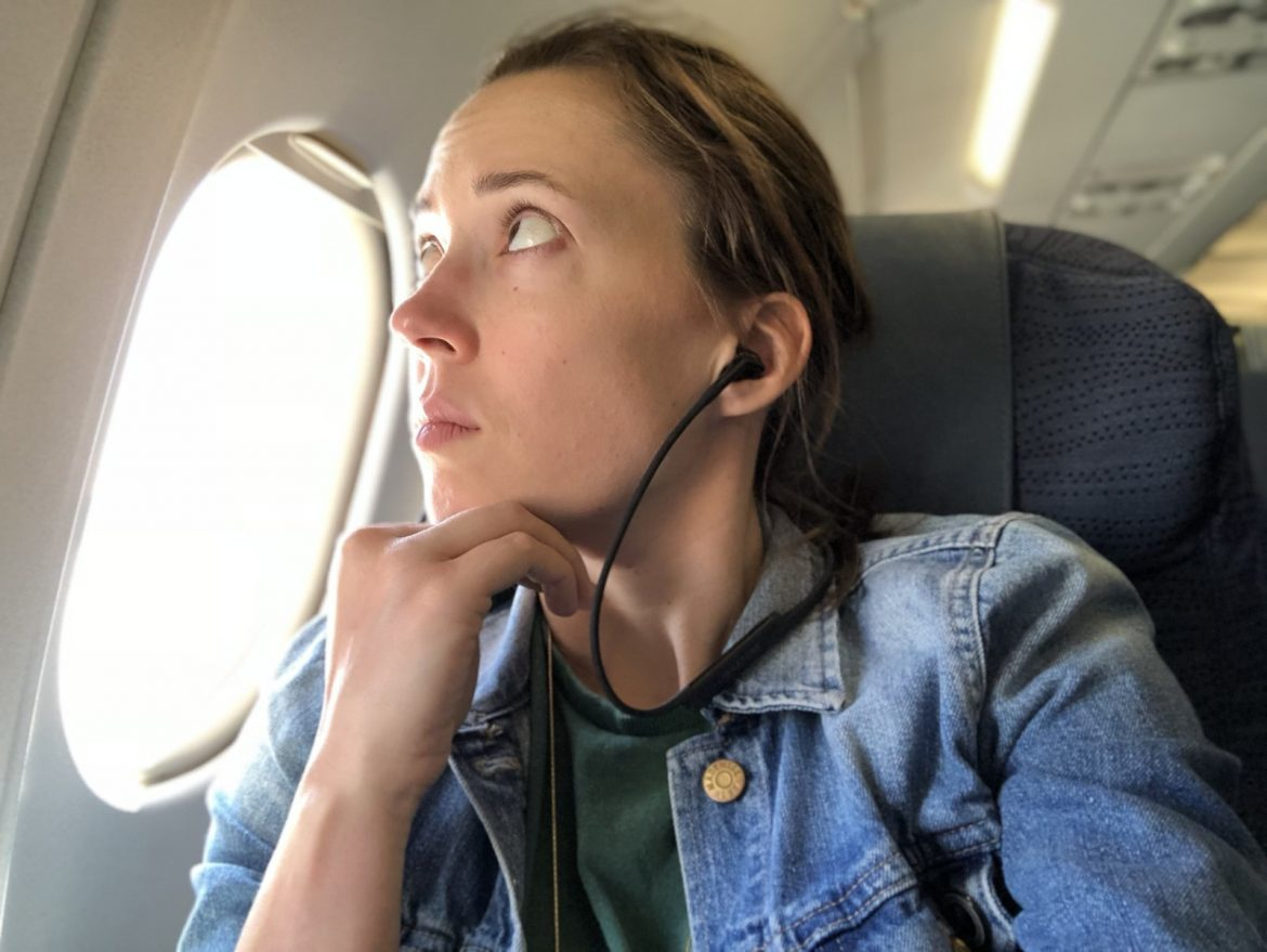 using headphones in planes